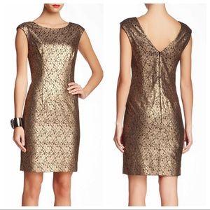 🆕 Trina Turk Meadows Bronze Lace Cocktail Dress 2